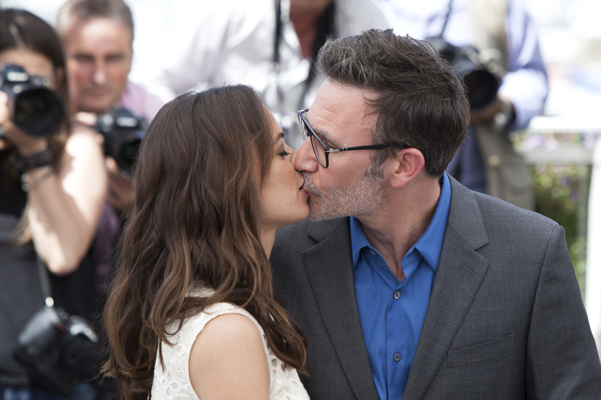 Director Michel Hazanavicius and actress Berenice Bejo attend the 'Redoutable (Le Redoutable)' photocall during the 70th annual Cannes Film Festival at Palais des Festivals on May 21, 2017 in Cannes, France
