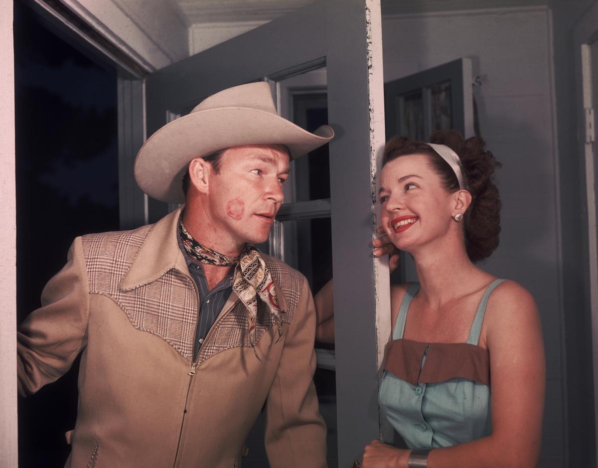 roy rogers met dale evans on set in 1944